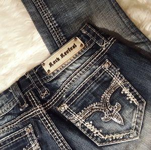Size 26 Rock Revival Lynkat Easy Crop Jeans